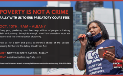 ADVISORY: Advocates & Lawmakers to Rally Today at State Capitol Prior to Senate Hearing on End Predatory Court Fees Act